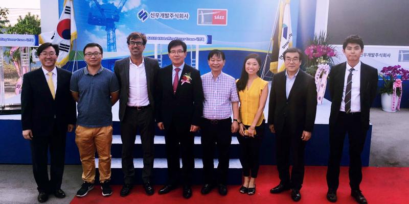 Presentación de Grua Luffing ante nuestros distribuidores de Corea del Sur