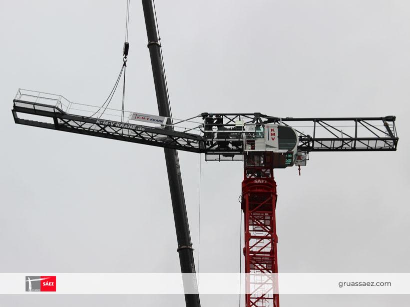 Montaje grúa Sáez TLS 65B 10T en Berlín
