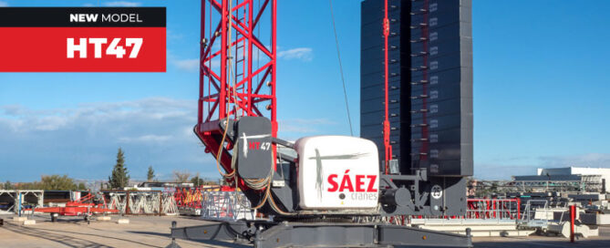 Self-Erecting HT47: The new self-erecting telescopic crane by Sáez Cranes