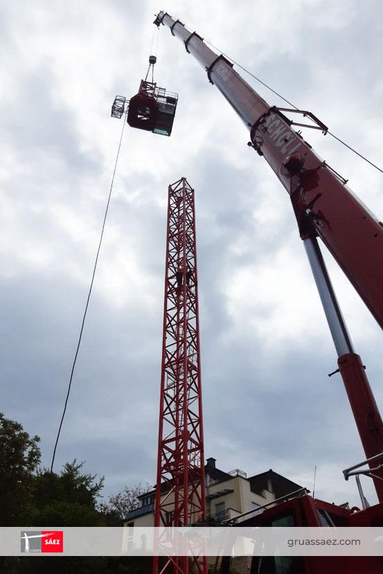 Nuevo montaje de una TLS 65B 10T de Grúas Sáez en Heidelberg (Alemania)